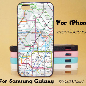 London Tube Map,iphone 5 case,iPhone 5C Case,iPhone 5S Case,iPhone 4 Case, iPhone 4S Case,Galaxy Samsung S3, S4,S5