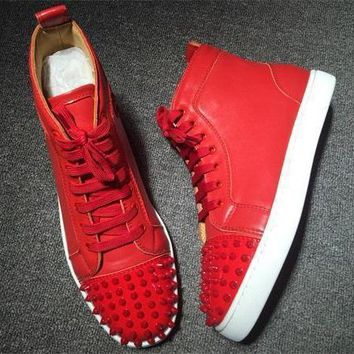 Cl Christian Louboutin Lou Spikes Style #2206 Sneakers Fashion Shoes