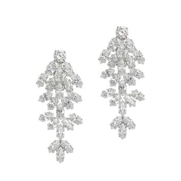 CZ by Kenneth Jay Lane - Marquise CZ Waterfall Clip Earring