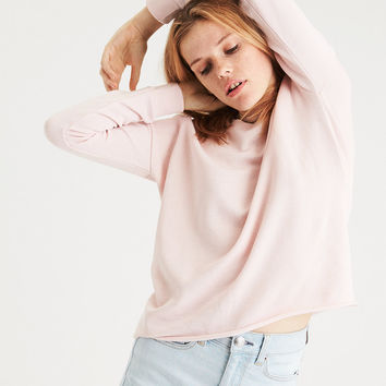 AE Classic Raw Edge Sweatshirt, Blush
