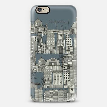 dystopian toile slate blue iPhone 6 case by Sharon Turner   Casetify