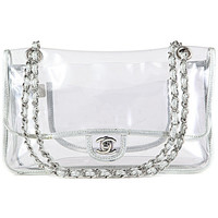 Authentic Chanel Clear Classic Flap