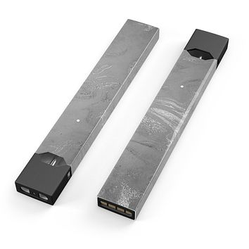 Skin Decal Kit for the Pax JUUL - Dark Silver Marble Swirl V6