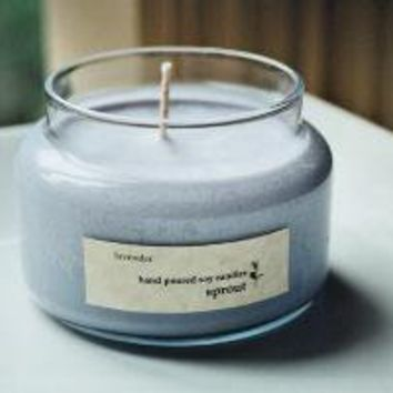 Lavender Soy Candle  10 Ounce Apothecary Jar by sproutcandleshop