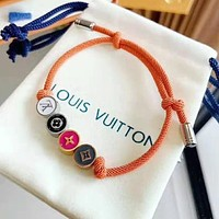 LV Louis Vuitton Hot Sale Couple Chic Braided Rope Bracelet Hand Catenary Jewelry Accessories
