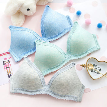 Girl's Bra With Steel Wire Bra Summer Underwear [11286783759]
