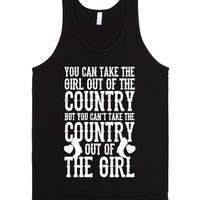 Can't Take The Country Out Of The Girl (White Ink)-Black Tank