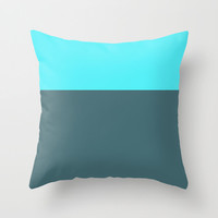 Turquoise and Teal Colorblock Pillow Cover