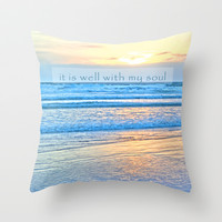 It Is Well With My Soul Throw Pillow by Shawn Terry King
