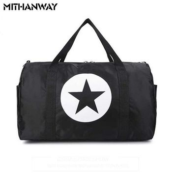 DCCK7N3 Large Capacity Five-Pointed Star Women Men Duffel Bag Multifunction Portable Sports Travel Gym Fitness Bag