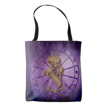 Virgo Zodiac Sign Tote Bag