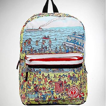 Top Zip Where's Waldo Backpack - Spencer's