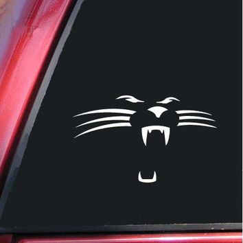Carolina Panthers Face Die Cut Car Decal Sticker Die-cut White Windows Decal Sticker 6''(White)