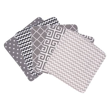 Ombre Gray 5 Pack Wash Cloth Set
