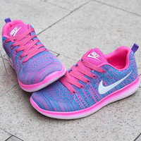 """Nike"" Fashion Breathable Sneakers Sport Shoes Purple"