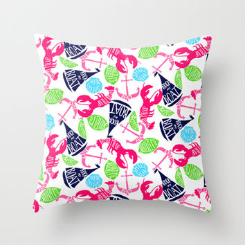Summer time! (Lilly Pulitzer style) Throw Pillow by uramarinka | Society6