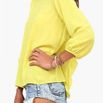 Yellow Blouse With Bow 6