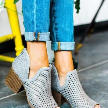 Ash Gray Fall in Love Bootie