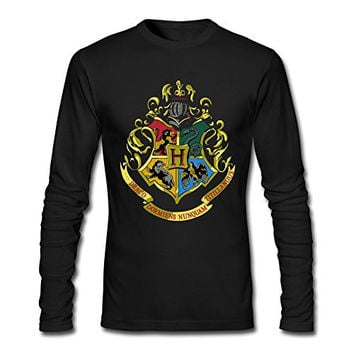 AOPO Men's Long Sleeve Hogwarts School Of Witchcraft And Wizardry Tee Shirts