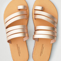 AEO Toe Ring Wrapped Slide Sandal, Rose Gold