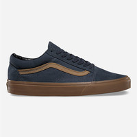 Vans Gum Sidestripe Old Skool Shoes Ebony  In Sizes