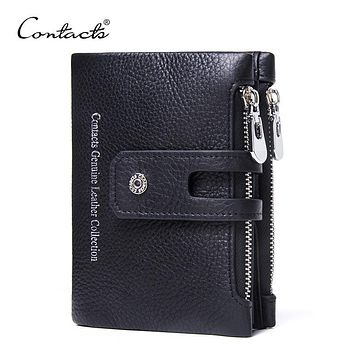 Genuine Leather Wallet Unisex Fashion Purse Exclusive service Engraving Dropshipped For Gift Brand Design Wallets CONTACT'S