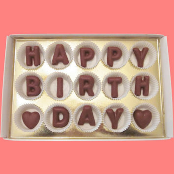Happy Birthday Large Milk Chocolate Letters
