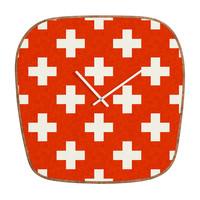 Holli Zollinger Vermillion Plus Modern Clock