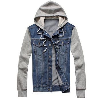 2016 New Fashion Men's Fleece Hoodies Cowboy Men Jacket Tracksuits Denim Jacket Jeans Jacket Hoodies Sweatshirts