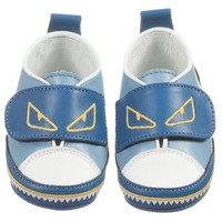 ONETOW Fendi Baby Boys Blue 'Monster' Shoes