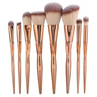 8pcs Metal Makeup Brushes Set