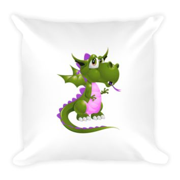 Draco Green Purple Pillow