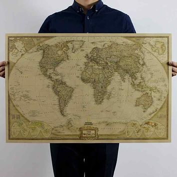"""New 28""""x18"""" World Map Vintage Retro One Paper Antique Poster Wall Chart Home Decor"""