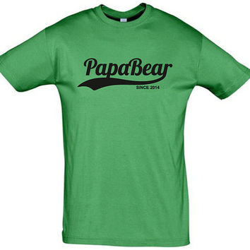 Papa bear (Any Year)  men t shirt,funny t shirt,custom t shirt,men tshirt,dad shirt,funny dad t shirt,awsome dad t shirt,daddy t shirt,