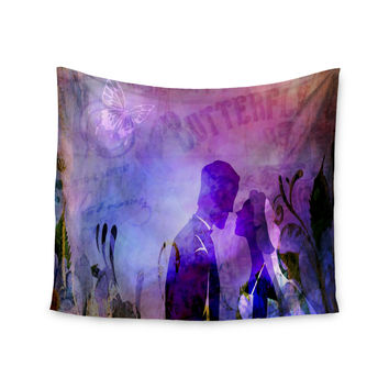 "alyZen Moonshadow ""Couple In Love"" Purple Pink Wall Tapestry"