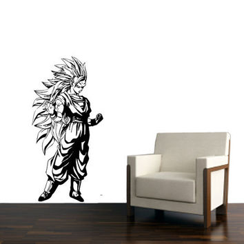 Dragon Ball Z, Goku Super Saiyan Vinyl - Wall Decoration - Wall Decal