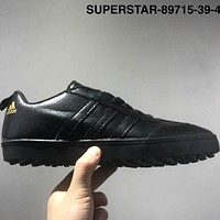 ADIDAS SUPERSTAR Leather cloth high-quality leisure men's shoes L-CSXY Black