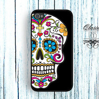 iPhone 5 Sugar Skull Bone Paisley/day of the dead by QlassicCases