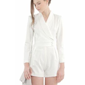 Home :: Woman :: Clothing :: Jumpsuits :: Tuxedo Classic White Playsuit