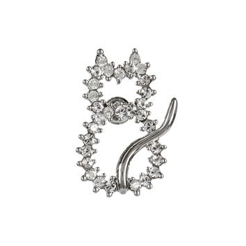 Cat Rhinestone Outline Body Tack Pin