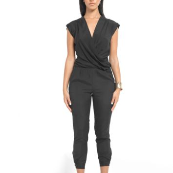 Dara Sleeveless Jumpsuit by Emerson Thorpe in Black & Royal Blue – Elizabeth Smith Boutique