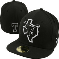New Era Texas Longhorns Black 59FIFTY Bevo State Fitted Hat