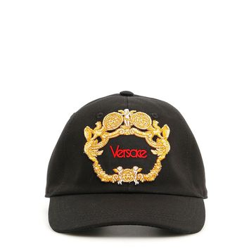 Gold Embroidered Baseball Hat by Versace