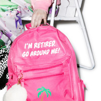 Danielle Guizio Retired And Kinda Inspired Backpack Pink One