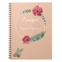 Floral Custom Text Personal Notebook