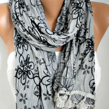 Gray Scarf Fall WInter Accessories Shawl Oversize Scarf Cowl Scarf Gift Ideas for Her Women Fashion Accessories Christmas Gift