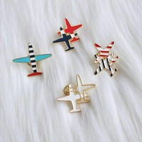 Arrival Fashion Cuty Quality Colorful Enamel Alloy Youth Style Planes Costume Brooches Pins