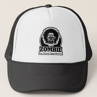 ZOMBIE We Want Your Brains Ver.3 Black & White Trucker Hat