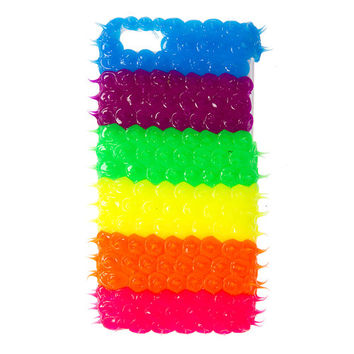 Neon Rubber Spike Cover for iPhone 5c