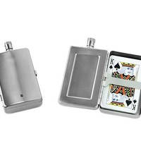 FLASK & CARD CASE | Stainless Steel Gift Set, Alcohol, Drinking, Travel | UncommonGoods